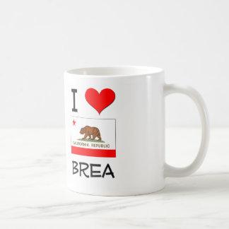 I Love BREA California Basic White Mug