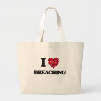 I Love Breaching Jumbo Tote Bag