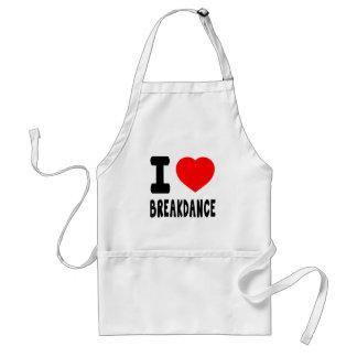 I Love Breakdance Aprons