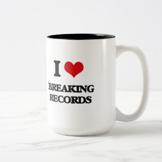 I Love Breaking Records Mugs