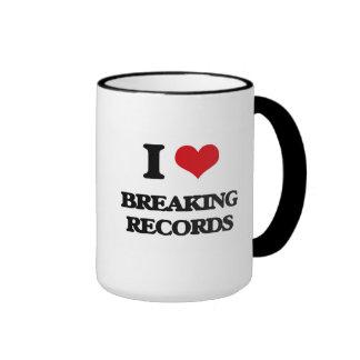 I Love Breaking Records Coffee Mug