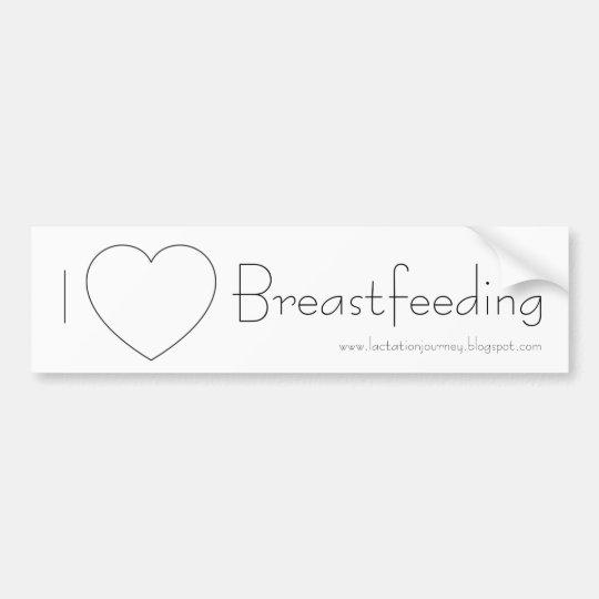 I Love Breastfeeding Bumper Sticker