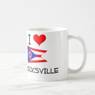 I Love Brecksville Ohio Basic White Mug
