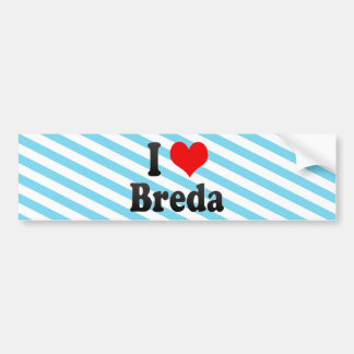 I Love Breda, Netherlands Bumper Sticker