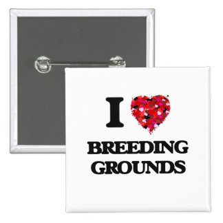 I Love Breeding Grounds 15 Cm Square Badge