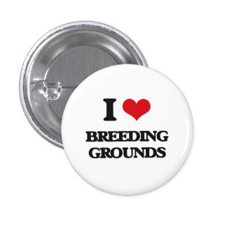 I Love Breeding Grounds Pinback Buttons