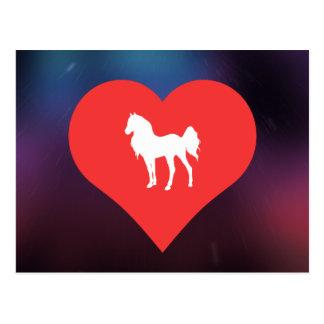 I Love Breeding Horses Postcard