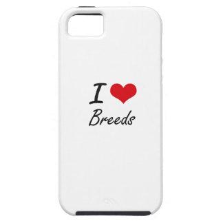 I Love Breeds Artistic Design iPhone 5 Cover