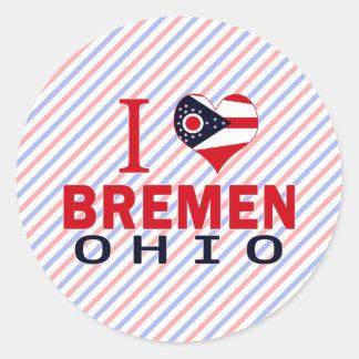 I love Bremen, Ohio Round Sticker