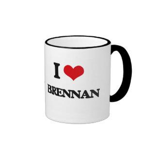 I Love Brennan Ringer Mug