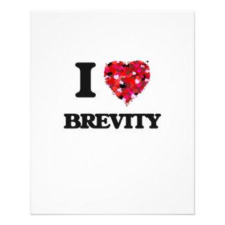 I Love Brevity 11.5 Cm X 14 Cm Flyer
