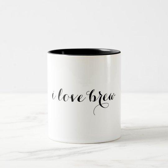i love brew two-tone mug