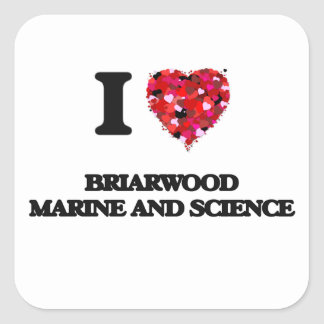 I love Briarwood Marine And Science Massachusetts Square Sticker