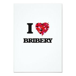 I Love Bribery 9 Cm X 13 Cm Invitation Card