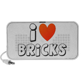 I Love Bricks by Customize My Minifig PC Speakers