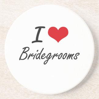 I Love Bridegrooms Artistic Design Drink Coaster