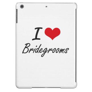 I Love Bridegrooms Artistic Design iPad Air Covers