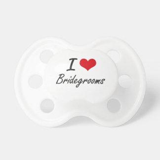 I Love Bridegrooms Artistic Design Pacifiers