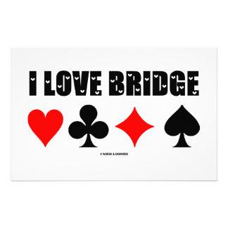 I Love Bridge Bridge Game Stationery Paper