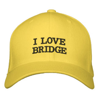 I LOVE BRIDGE EMBROIDERED HAT