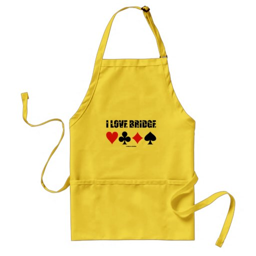 I Love Bridge (Four Card Suits) Apron