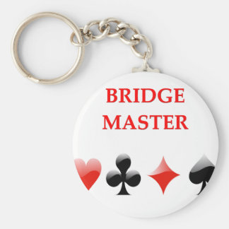 i love bridge basic round button key ring