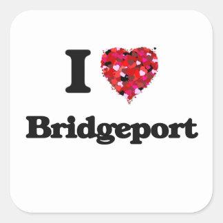 I love Bridgeport Connecticut Square Sticker
