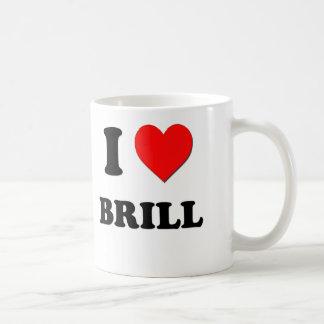 I Love Brill ( Food ) Classic White Coffee Mug