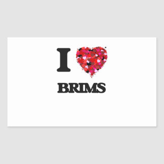 I Love Brims Rectangular Sticker