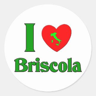 I Love Briscola Round Sticker
