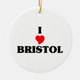 I love Bristol Cn Christmas Ornament