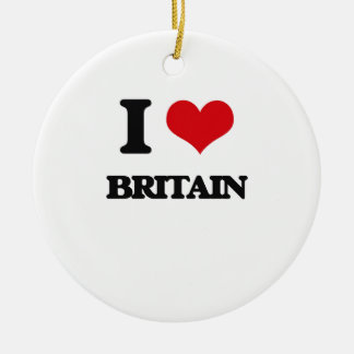 I Love Britain Christmas Tree Ornament