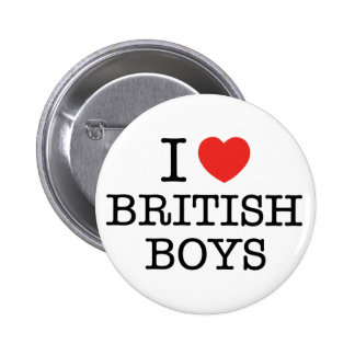 I Love British Boys 6 Cm Round Badge