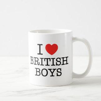 I Love British Boys Basic White Mug