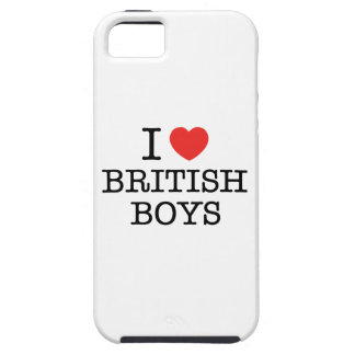 I Love British Boys Case For The iPhone 5