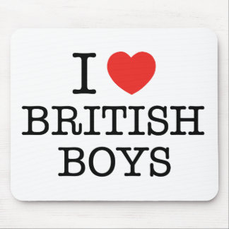 I Love British Boys Mouse Pad