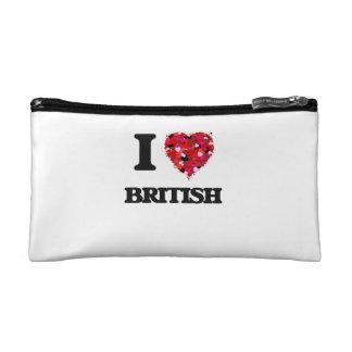 I Love British Cosmetic Bag