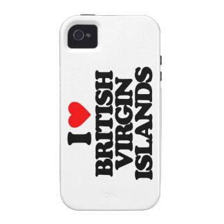 I LOVE BRITISH VIRGIN ISLANDS VIBE iPhone 4 COVERS
