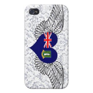 I Love British Virgin Islands -wings iPhone 4/4S Cases