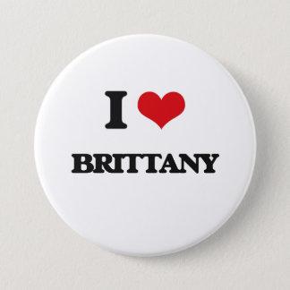 I Love Brittany 7.5 Cm Round Badge