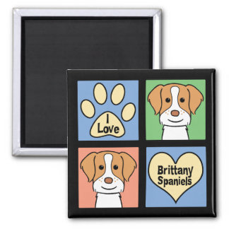 I Love Brittany Spaniels Magnet