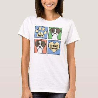 I Love Brittany Spaniels T-Shirt
