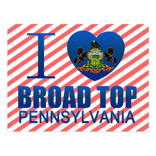 I Love Broad Top, PA Postcard