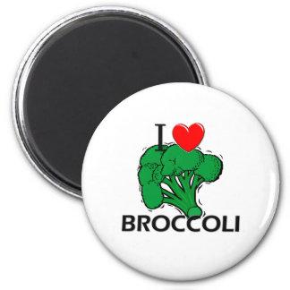 I Love Broccoli 6 Cm Round Magnet