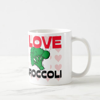 I Love Broccoli Basic White Mug