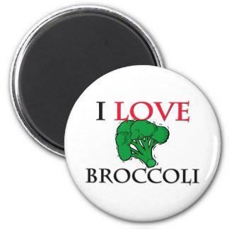 I Love Broccoli Refrigerator Magnets