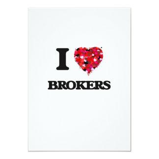 I Love Brokers 13 Cm X 18 Cm Invitation Card