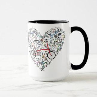 I Love Brompton Bikes Mug