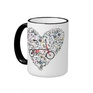 I Love Brompton Bikes Ringer Mug
