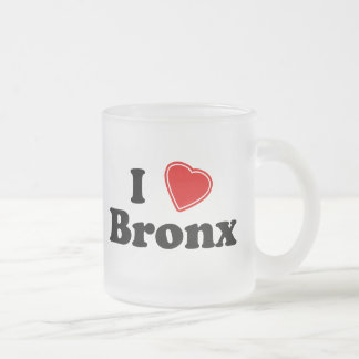 I Love Bronx Frosted Glass Coffee Mug